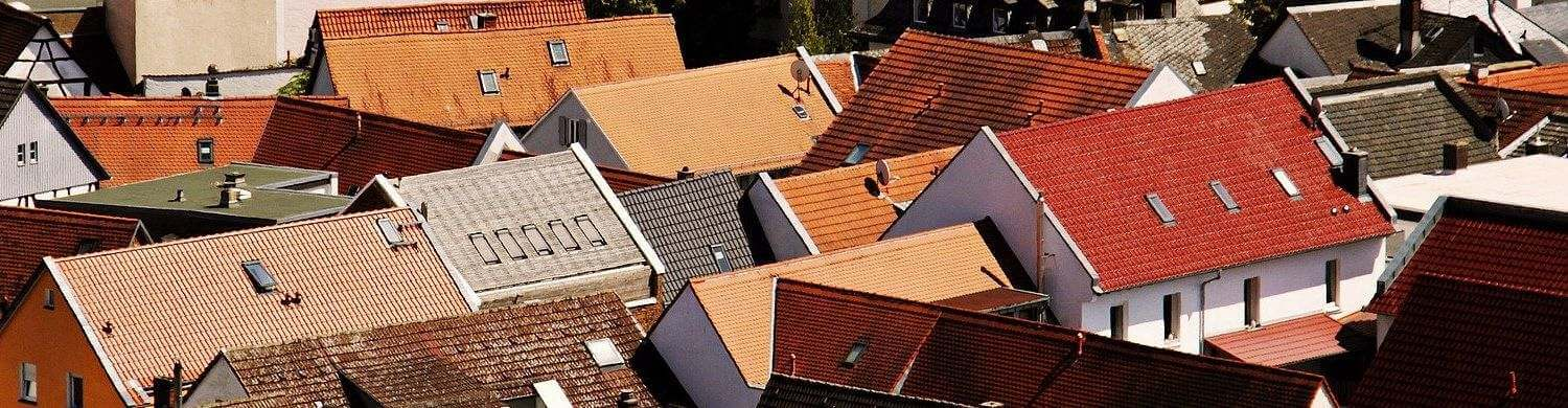 Clean roofs of a village